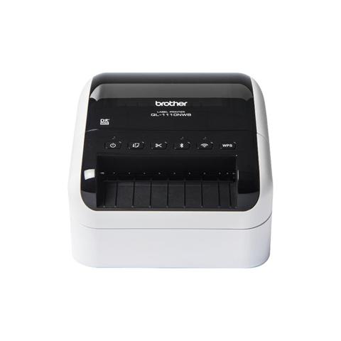 Brother QL-1110NWB stampante per etichette (CD) Termica diretta 300 x 300 DPI Con cavo e senza cavo