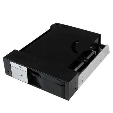StarTech.com Scheda backplane per rack portatile trayless hot-swap doppio alloggiamento 5,25 per HDD SATA/SAS da 2,5