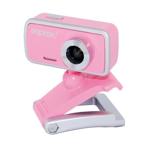 Approx APPWC02P 1.3MP 800 x 600Pixel USB 2.0 Rosa, Argento webcam