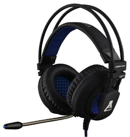The G-Lab KORP400 Stereofonico Padiglione auricolare Nero, Blu cuffia e auricolare