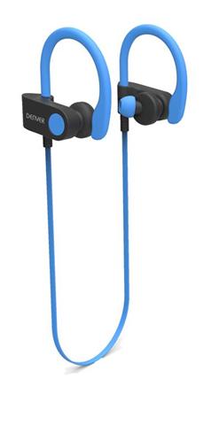 Denver BTE-110 BLUE Cuffia Passanuca Nero, Blu