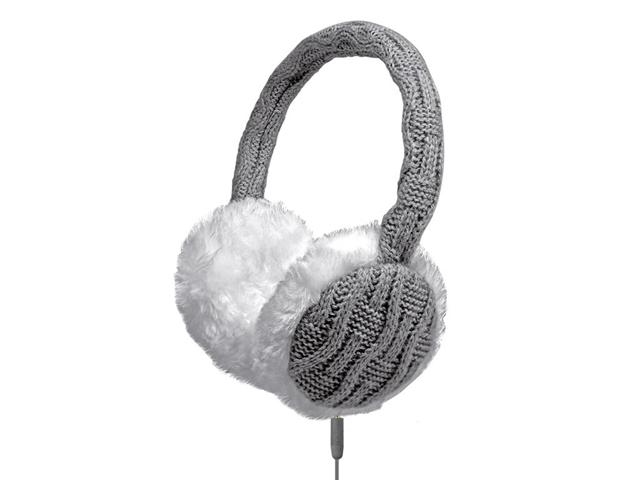 SBS TTHEADPHONEWOOLG cuffia e auricolare Padiglione auricolare Grigio, Bianco