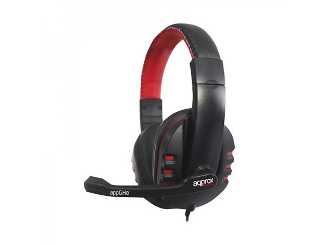 Approx appGH8 Stereofonico Padiglione auricolare Nero, Rosso cuffia e auricolare