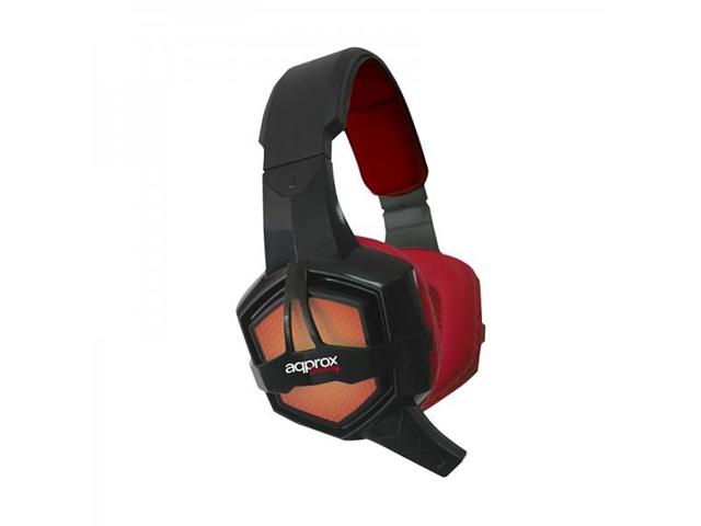 Approx appGH10 Stereofonico Padiglione auricolare Nero, Rosso cuffia e auricolare