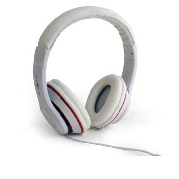 Gembird Los Angeles Stereofonico Padiglione auricolare Bianco cuffia e auricolare