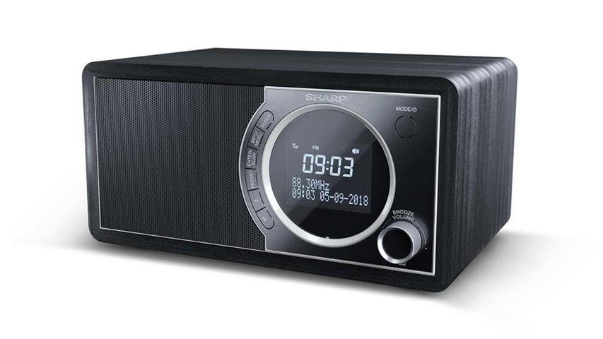 Sharp DR-450 radio Personale Digitale Nero, Acciaio inossidabile