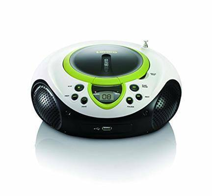 Lenco SCD-38 USB Stereo Boombox, Radio FM, CD/MP3-Player, USB 2.0, Verde