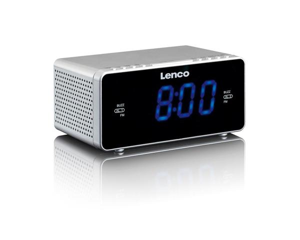 Lenco CR-520 radio Orologio Digitale Argento