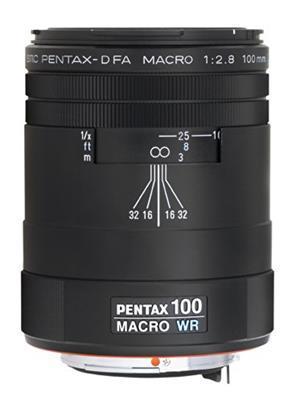Pentax Obiettivo SMC D-FA 100 mm, Macro F/2.8 WR, Nero