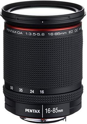 Pentax Obiettivo HD da 16-85 mm, f/3.5-5.6, ED, DC, WR, Nero