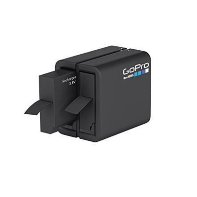 GoPro Caricabatteria per 2 Batterie HERO4, Nero