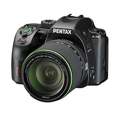 Pentax K 70con dal 1850WR e 50200WR Gomma (24mp fotocamera, Live View, Full HD, Pixel Shift, 7,62cm (3pollici) Nero