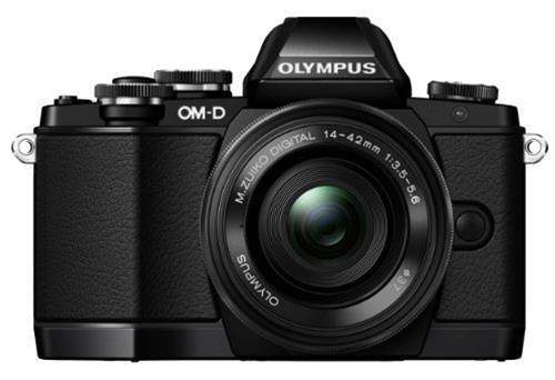 Olympus OM-D E-M10 Fotocamera Mirrorless 16 MP, Kit con Obiettivo M.Zuiko ED 14 - 42mm f3.5-5.6 EZ, Nero