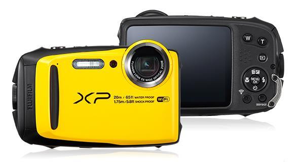 Fujifilm FinePix XP120 Fotocamera Digitale, Sensore CMOS da 16MP, Zoom Ottico 5x, Impermeabile 20mt, Stabilizzatore Meccanico, Batteria al Litio, Giallo