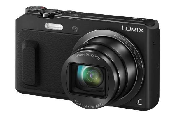 Panasonic Lumix DMC-TZ57EG-K Fotocamera, Sensore MOS 16 MP, Zoom Ottico 20x, Video Full HD, Wink Detector, Wi-Fi Certified, Nero