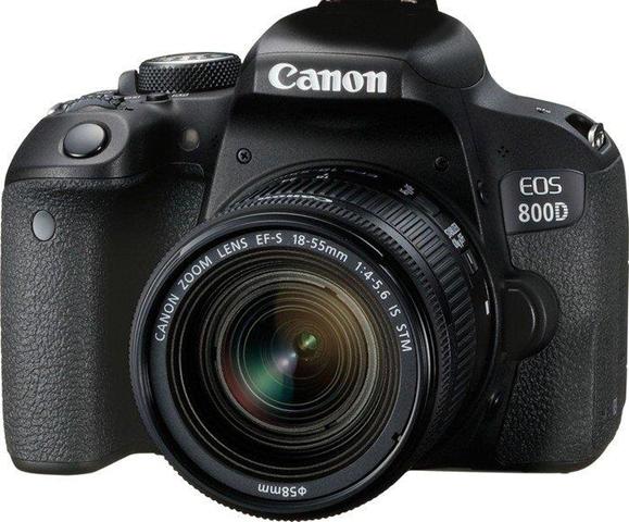 Canon EOS 800D Fotocamera Digitale, Obiettivo EF-S 18-55 mm f/4-5.6 IS STM, Nero [Versione Canon Pass Italia]