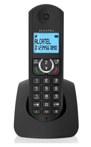 Alcatel F380-S Telefono DECT Nero Identificatore di chiamata