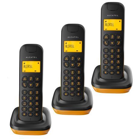 Alcatel D135 Trio Telefono DECT Nero, Arancione Identificatore di chiamata