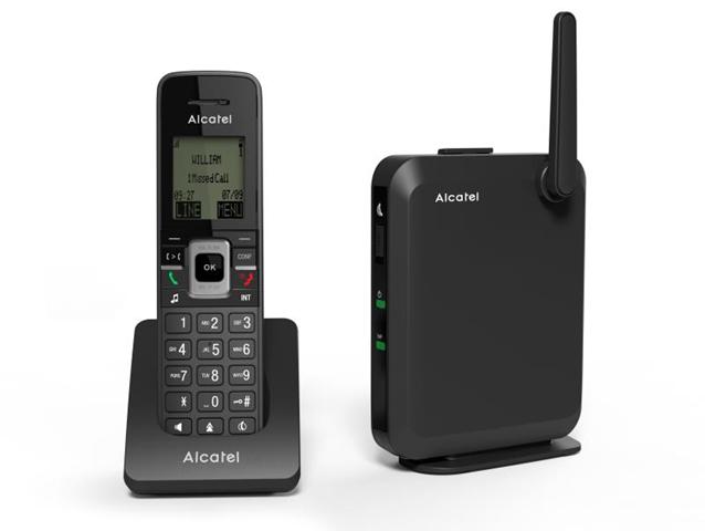 Alcatel IP2215 telefono IP Nero Cornetta wireless LCD 6 linee