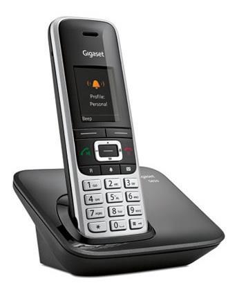 Siemens Gigaset S850 Telefono DECT Identificatore di chiamata Nero, Platino