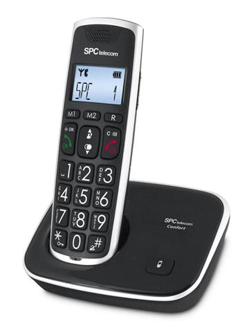 SPC 7608N telefono Telefono DECT Nero Identificatore di chiamata