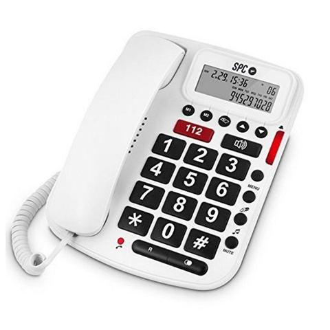 Telefono Fisso per Anziani 3293B Bianco