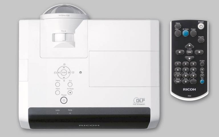 Ricoh PJ X4241N videoproiettore 3300 ANSI lumen DLP XGA (1024x768) Proiettore desktop Nero, Bianco
