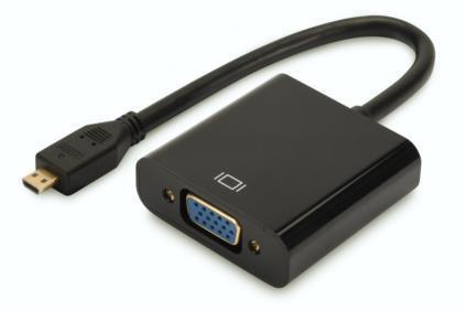 Digitus Adattatore Digitus micro HDMI-d - d-sub15 nero