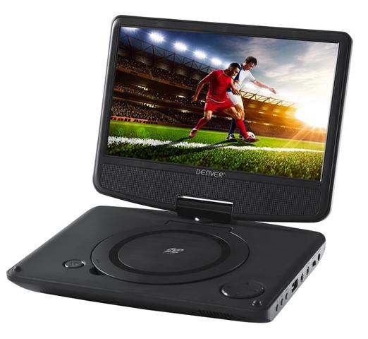 Denver MT-783NB Portable DVD player Convertibile Nero 17,8 cm (7