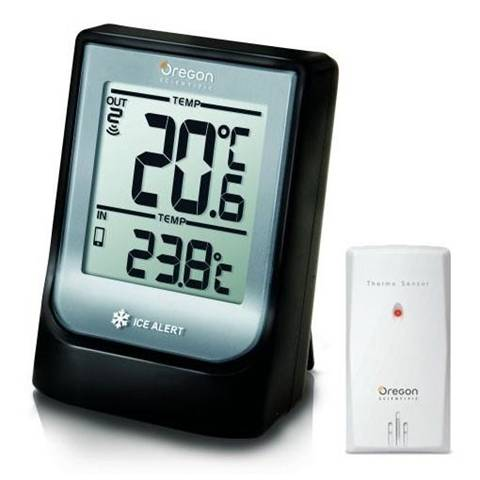 Oregon Scientific EMR211 Termometro con Temperatura Interna ed Esterna, Nero