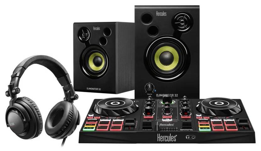 Hercules DJLearning Kit controller per DJ Nero Mixer con controllo DVS (Digital Vinyl System)