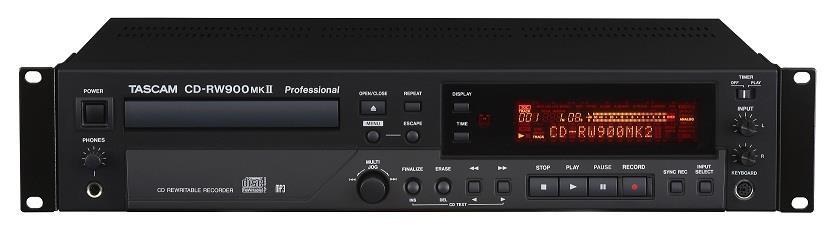 Tascam Lettore Masterizzatore Tascam CDRW900MkII Doppio Controllo Di Livelli