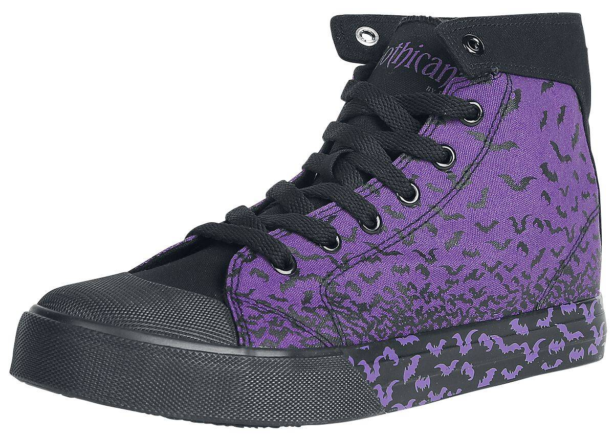 M322263 Gothicana by EMP Walk The Line Scarpe sportive viola/nero