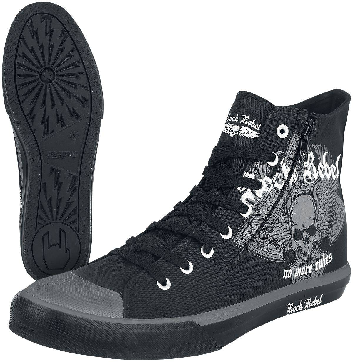 M207996 Rock Rebel by EMP Walk The Line Scarpe sportive nero