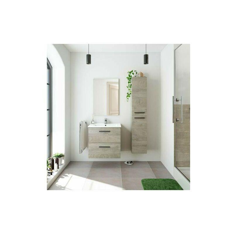 PIDEMA Kit mobile bagno moderno sospeso Aruba. Mobili bagno Fores sospesi in