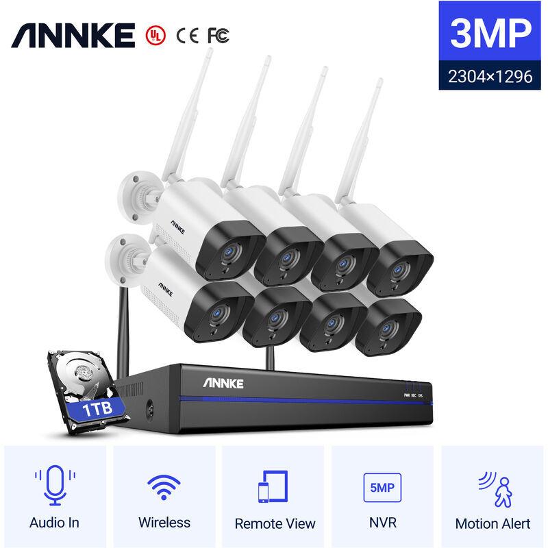 ANNKE Sistema di telecamere di sicurezza IP WiFi 8CH con 8 telecamere