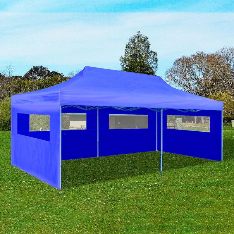 ASUPERMALL Tenda per feste pop-up pieghevole 3 x 6 m blu - ASUPERMALL