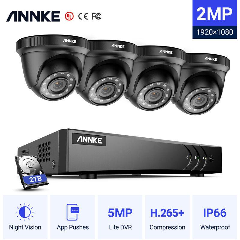 ANNKE Sistema di telecamere di sicurezza CCTV a 8 canali DVR 3MP 5-in-1