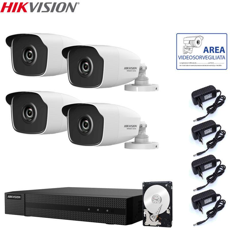 Hikvision Kit Videosorveglianza 4 Mpx 4 Canali Con Hard Disk 1 Tb