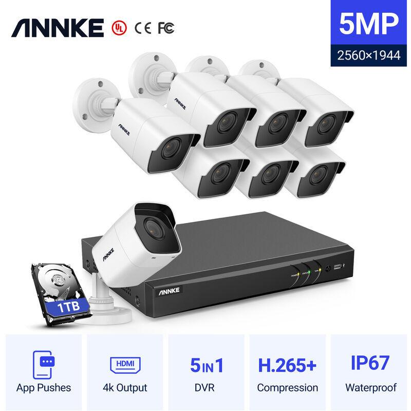 ANNKE Kit di videosorveglianza ANNKE Sistema di telecamere CCTV 8 canali