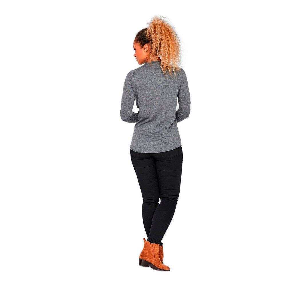 Vero Moda Nellie Glory Long Blouse XL Medium Grey Melange
