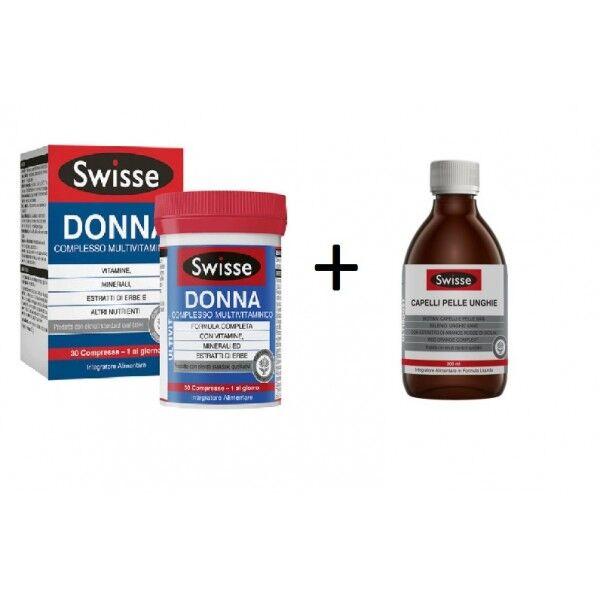 health and happines (h&h) it. bi-pack swisse cpu liquido 300 ml + multivitaminico donna 30 compresse