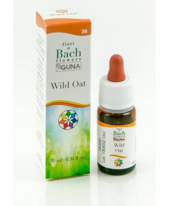 guna spa fiori di bach guna wild oat gocce senza glutine 10ml