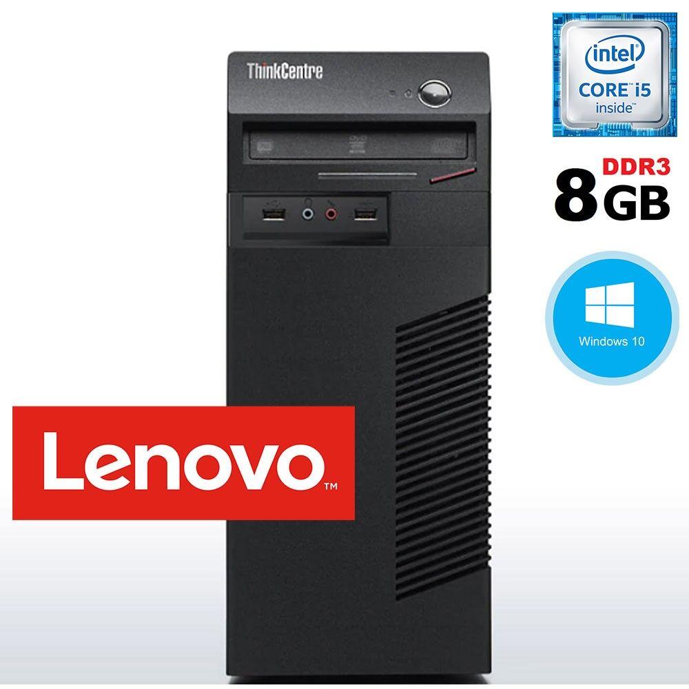 Lenovo PC COMPUTER RICONDIZIONATO Thinkcentre M73 MT Core i5 8Gb Ram 500Gb Windows 10 Pro