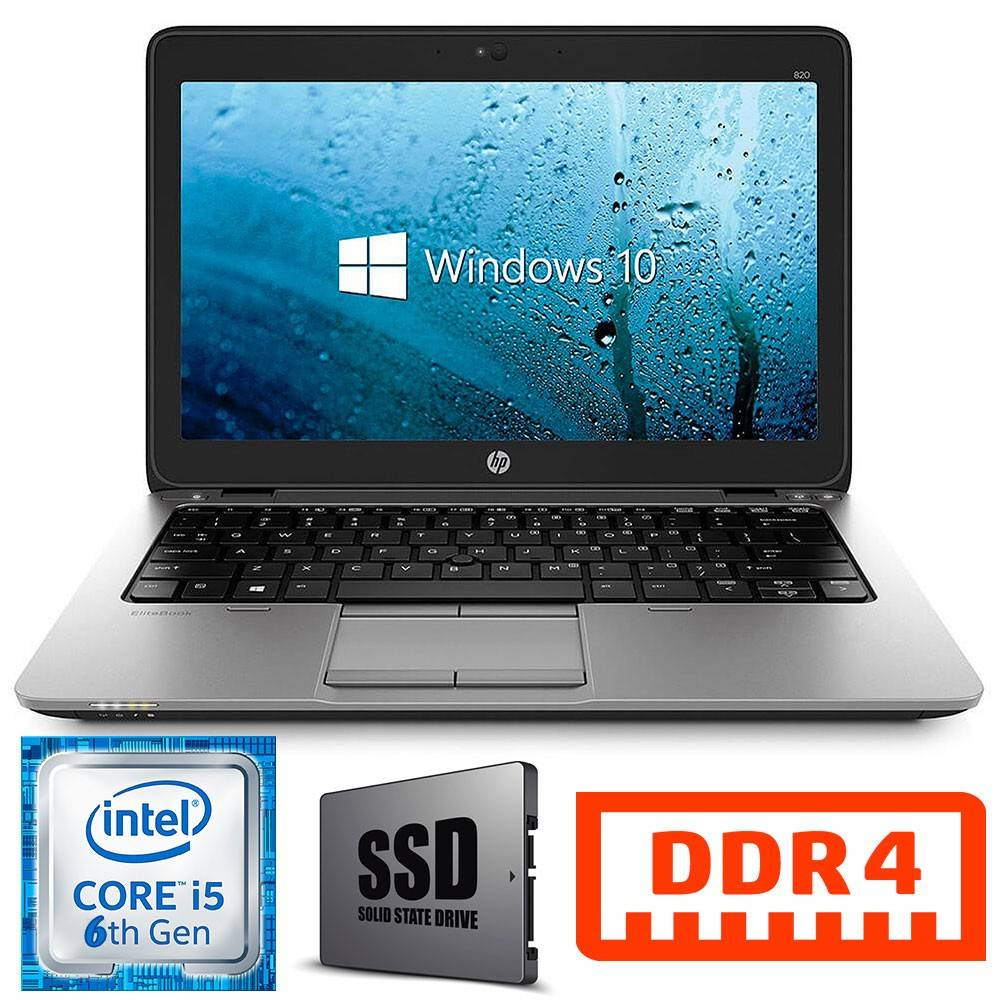 HP NETBOOK PC PORTATILE ELITEBOOK 820 G3 ULTRABOOK CORE I5 6300U SSD 256GB 12.5