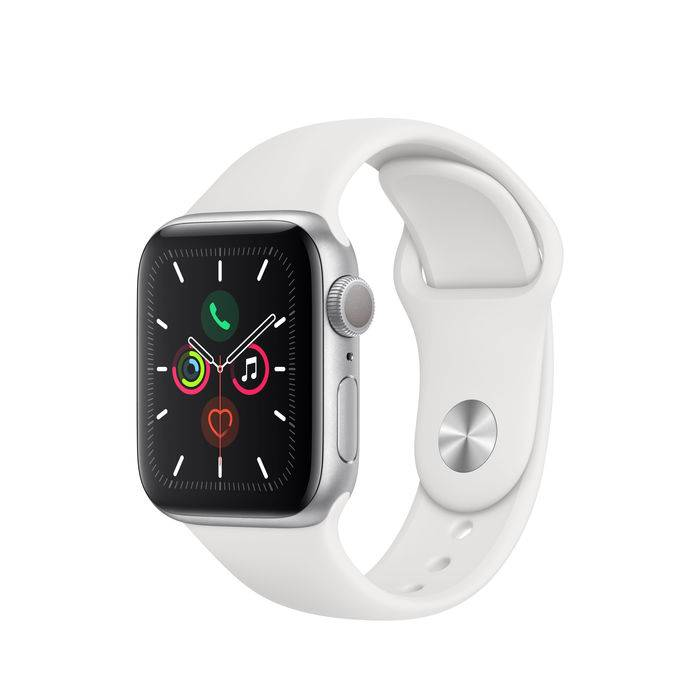 Apple Watch Series 5 GPS 40mm in alluminio color argento - Sport Bianco