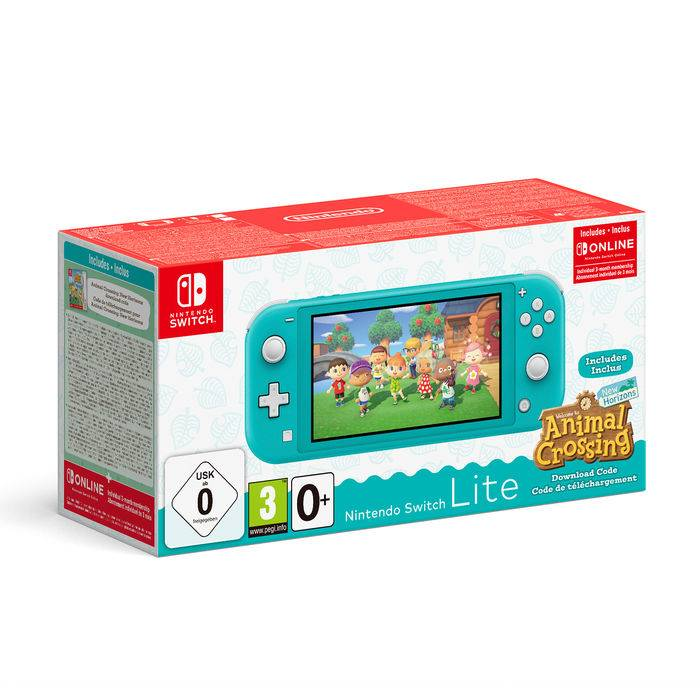Nintendo Switch Lite Turchese + Animal Crossing New Horizons +  Switch On-Line 3 mesi