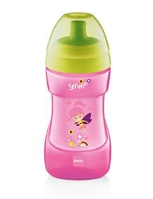 baby italia mam sports cup 1 tazza con tappo sport anti-goccia capacità: 330 ml (12+ mesi)