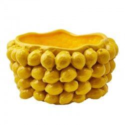 edg - enzo de gasperi enzo de gasperi vaso chakra con limoni Ø42cm