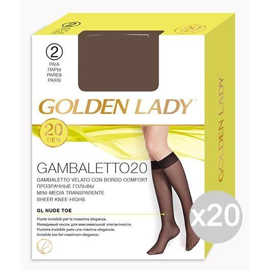 Golden Lady Set 20  Gambaletto Visone X2 Filanca 20 Den Calza Da Donna Accessorio Moda